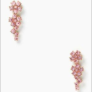 Kate Spade Pink Crystal Flower Climber Earrings